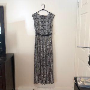 Michael Kors snake skin maxi dress with belt